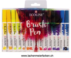 Talens Ecoline BrushPen Set 30 Stifte Transparente Wasserfarbe  im Pinselstift