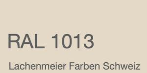 Farbkarte Norm Ral Karte Classic K6 RAL 1013 Perlweiss A4 Einzelbogen Original