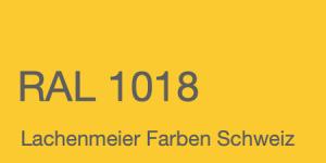Farbkarte Norm Ral Karte Classic K6 RAL 1018 Zinkgelb A4 Einzelbogen Original