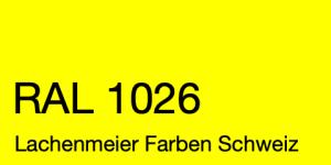 Farbkarte Norm Ral Karte Classic K6 RAL 1026 Leuchtgelb A4 Einzelbogen Original