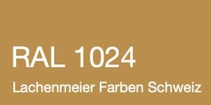 Farbkarte Norm Ral Karte Classic K6 RAL 1024 Ockergelb A4 Einzelbogen Original