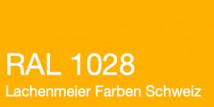 Farbkarte Norm Ral Karte Classic K6 RAL 1028 Melonengelb A4 Einzelbogen Handgefertigt
