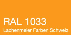 Farbkarte Norm Ral Karte Classic K6 RAL 1033 Dahliengelb A4 Einzelbogen Original