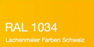 Farbkarte Norm Ral Karte Classic K6 RAL 1034 Pastellgelb A4 Einzelbogen Original