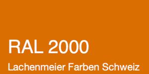Farbkarte Norm Ral Karte Classic K6 RAL 2000 Gelborange A4 Einzelbogen Original