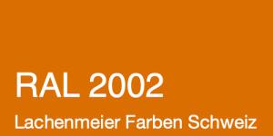 Farbkarte Norm Ral Karte Classic K6 RAL 2002 Blutorange A4 Einzelbogen Original