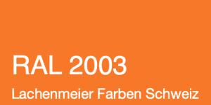 Farbkarte Norm Ral Karte Classic K6 RAL 2003 Pastellorange A4 Einzelbogen Original