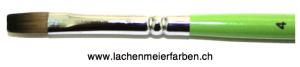 Profi Green Grün F Künstlerpinsel Flach 04 Set 10 Pinsel Stiel Grün Kunsthaar hell Weich