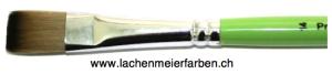 Profi Green Grün F Künstlerpinsel Flach 14 Set 10 Pinsel Stiel Grün Kunsthaar hell Weich