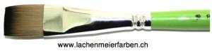 Profi Green Grün F Künstlerpinsel Flach 18 Set 10 Pinsel Stiel Grün Kunsthaar hell Weich