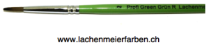 Profi Green Grün R Künstlerpinsel Rund 02 Set 10 Pinsel Stiel Grün Kunsthaar hell weich