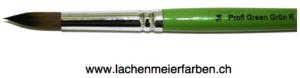 Profi Green Grün R Künstlerpinsel Rund 14 Set 10 Pinsel Stiel Grün Kunsthaar hell weich