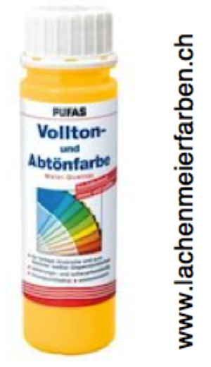 Pufas Vollton und Abtönfarbe 501 Gelb Dispersion in MQ