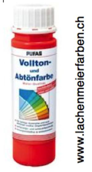 Pufas Vollton und Abtönfarbe 503 Rot Dispersion in MQ