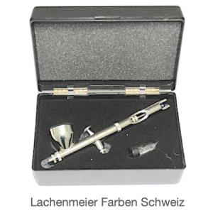 Badger Airbrushpistole 105-1 Patriot Fliessbecher, Düse 0,77mm , im  Kunststoffkoffer