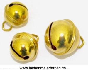 Fasnacht Glöckli / Gleggli Gold Messing 17mm /einzeln