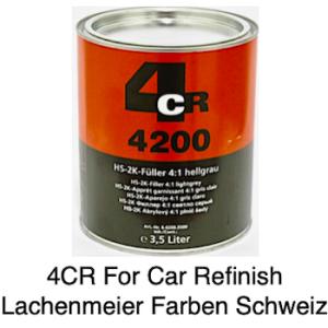 4CR 4200 Füller HS 2K Füller Low VOC hellgrau 4:1 0407