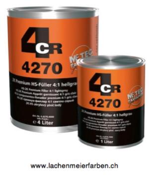 4CR 4270 Füller 2K Premium HS Füller 4:1 hellgrau
