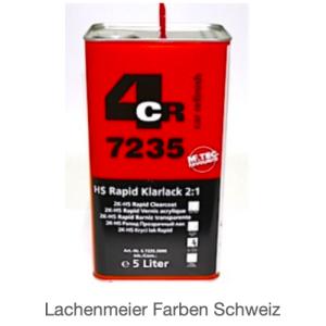 4CR 7235 Klarlack HS Rapid 2:1 mit Härter 0408
