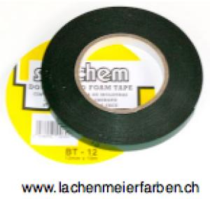 Klebeband Montageband Doppelseitig Schwarz 12mm x 10m