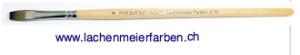 Profi Soft Oel + Acryl F Künstlerpinsel Flach 08 Set 10 Pinsel Stiel Holz roh