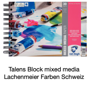 Talens Block Mixed Media Papier 300gr A5 30 Blatt Ring / Spirale