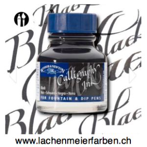 Winsor&Newton Kalligrafie Tusche 030 Schwarz Black