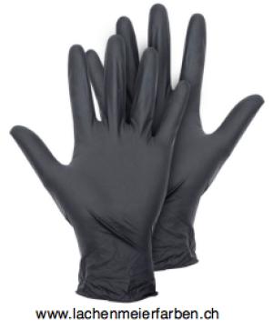 Handschuhe Nitril Schwarz XL Schwarz ungepudert Pack 100 Stück