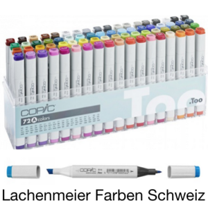 Copic Marker Set  72 Farben + Set A assotiert