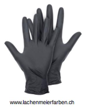 Handschuhe Nitril Schwarz M Schwarz ungepudert Pack 100 Stück