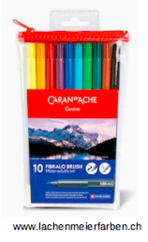 Caran d'Ache Classic Fibralo Brush Set mit 10 Farben
