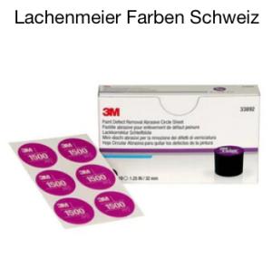 3M Lackkorrektur Handschleifsystem Set Schleifmittel P1500 (10 x 6 Schleifblüten P1500)