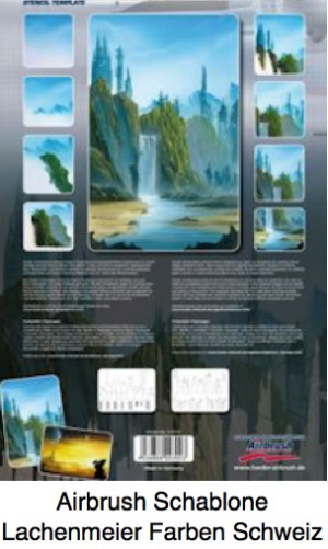 Airbrush Schablone Step-by-step ca. A4 Futuristic Cityscape Zukunfts Stadtschaft