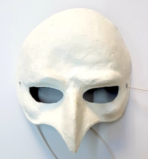 Fasnacht Larven: Venezianer Halblarve Maske Kurze Nase