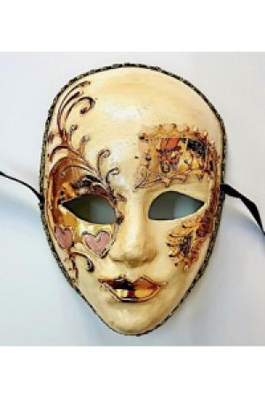 Fasnacht Larven: Venezianer Halblarve Maske ohne Glöckchen