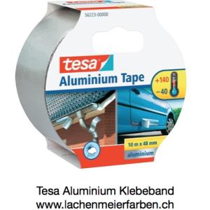 Tesa Aluminium Tape 50mm x 10m, echtes Metallband aus Alu