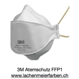 3M Atemschutz Maske Feinstaubmaske FFP2 9320+ Aura Blaues Band, Einzelmaske