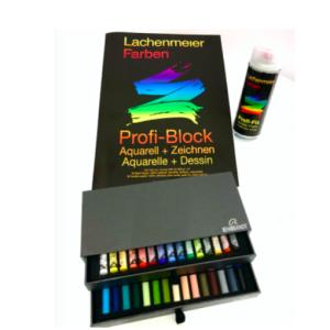 Set Nr 2: Pastellzeichnen: 1 Rembrandt Soft Pastell + Profi-Block A3, 1 Profi-Fix Spray: Starter sets: Paint or draw immediately