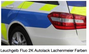 RC Tagesleuchtfarbe Fluo 2K 6:1 (850gr + 150gr) Leuchtgelb ca. RAL 1026 (Feuerwehr - Polizei - Sanität)