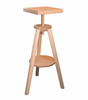 Modelliertisch 087 Buche dreibein Tisch drehbar ca. 40x40cm