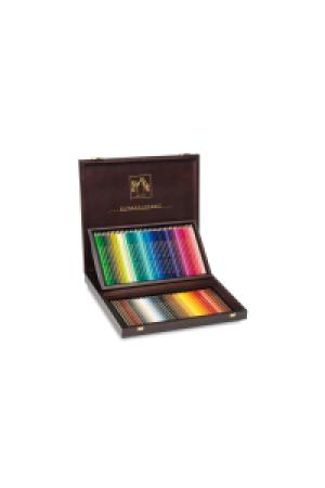 Caran d'Ache Artist Farbstift Supracolor Set Holzkoffer 80 Farben