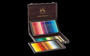 Caran d'Ache Artist Farbstift Supracolor Set Holzkoffer 120 Farben
