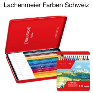 Caran d'Ache Fibralo Faserschreiber Set mit 15 Farben Metallschachtel
