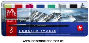 Caran d'Ache Gouache Set Tabletten 8 Plastik