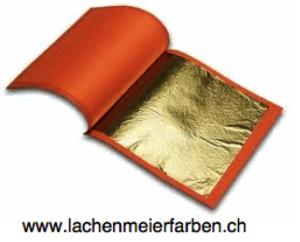 Gold 12K Blattgold Weissgold transfer 80x80mm