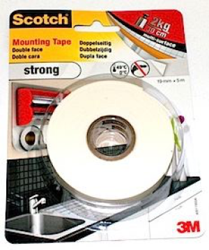 3M Klebeband Montageband Strong 19mm x 5m doppelseitig superstark 341955B strong