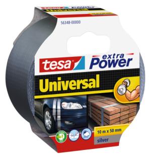 Tesa Extra Power Universal Gewebeband 50mm Silber 10m