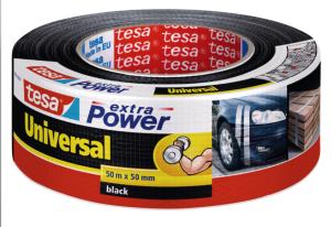 Tesa Extra Power Universal Gewebeband 50mm Schwarz 10m