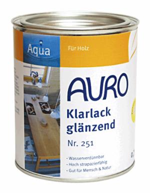 Naturfarben Auro 251 Klarlack glanz WB Aqua für Holz