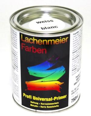 Profi Universalprimer Weiss Ral 9003 Weiss Haftung + Korrosionsschutz / Metalle + Harte Kunststoffe 750ml